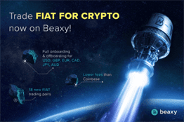 Beaxy Exchange Adds Support for Six National Currencies
