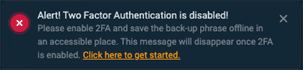 How do I enable / disable 2FA (two-factor authentication)