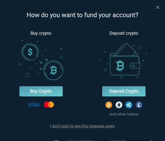 Purchasing crypto through Simplex
