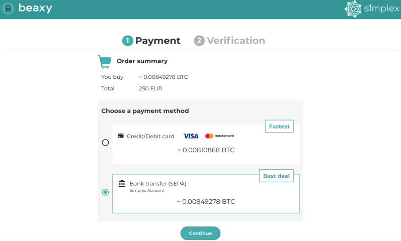 How to buy Bitcoin, Ethereum, and Tether With Your Credit Card on Beaxy Exchange